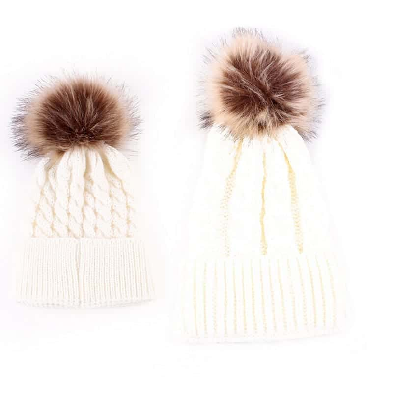 Mom and Baby Matching Knitted Hats  ff821cee4c7
