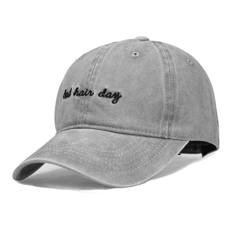 Bad Hair Day Embroidery Baseball Hat - Save 40% OFF | Rhalyn's