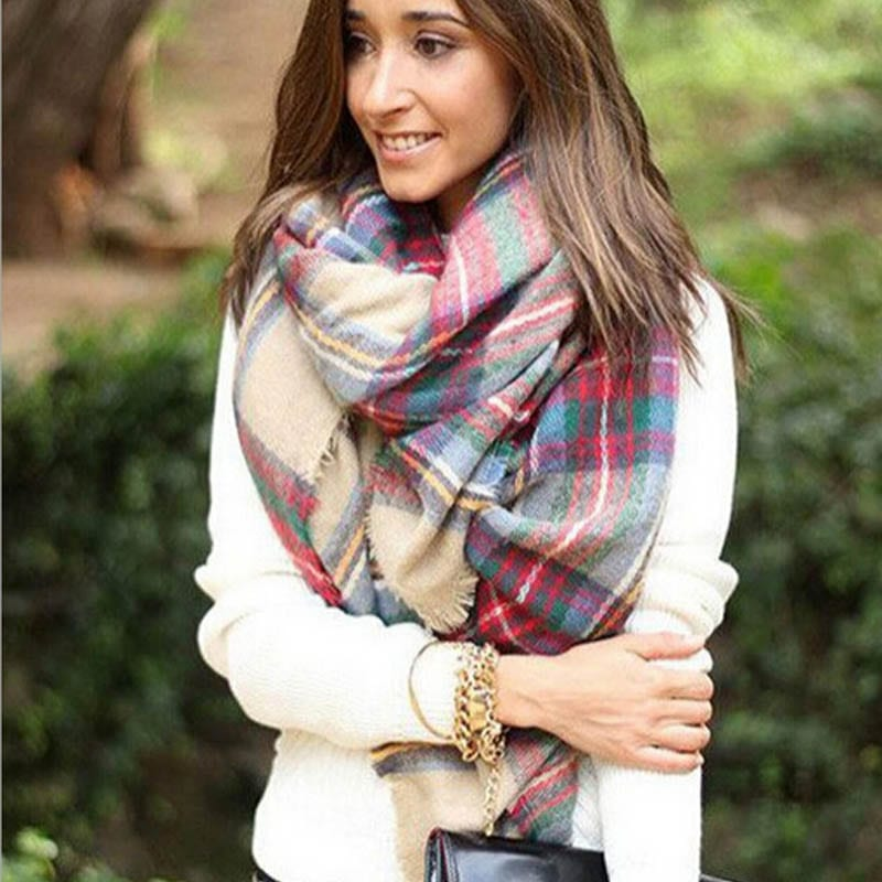 Best Lovely Scarf Wrap Shawl Plaid Cozy With Up To 65
