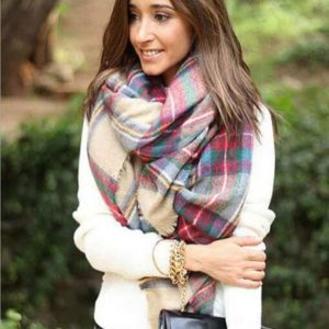 Lovely Scarf Wrap Shawl Plaid Cozy
