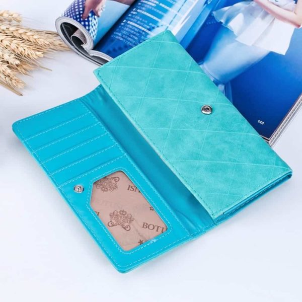 New Fashion PU Leather Women Wallets Vintage 2