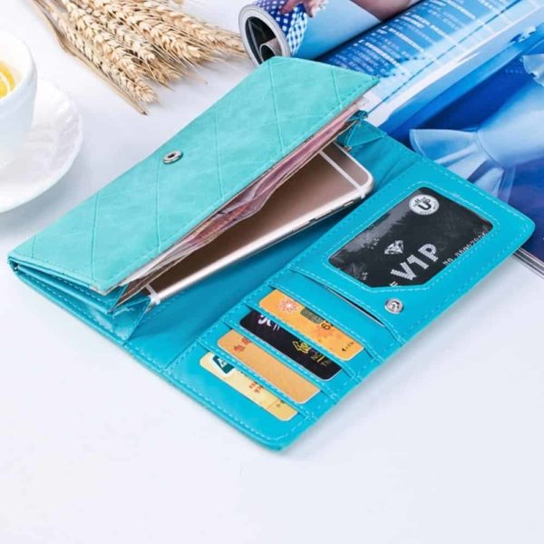 New Fashion PU Leather Women Wallets Vintage 3