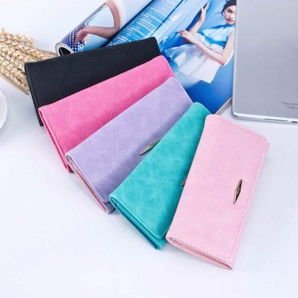 New Fashion PU Leather Women Wallets Vintage 6