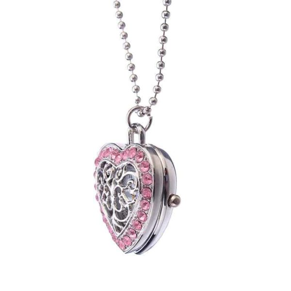 New Pink Heart Shape Pendant Necklace 2