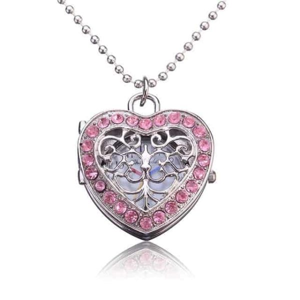 New Pink Heart Shape Pendant Necklace 8