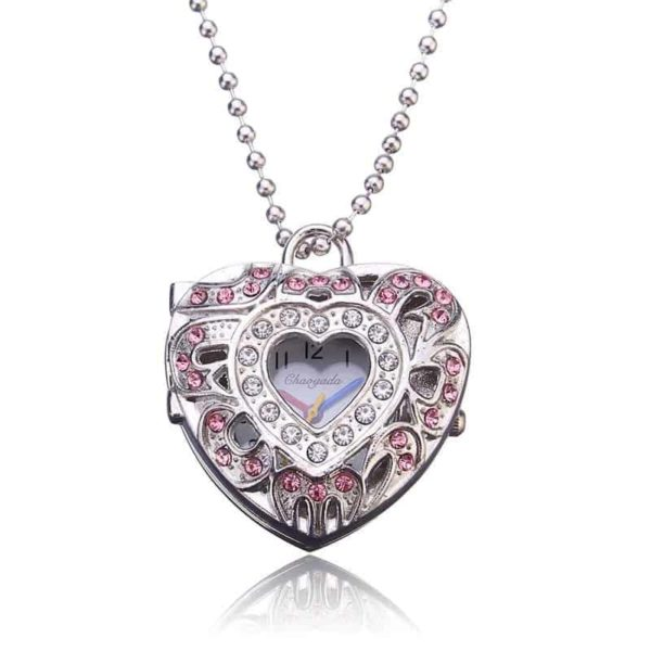 New Pink Heart Shape Pendant Necklace 3