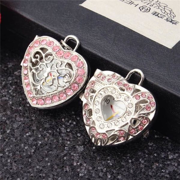 New Pink Heart Shape Pendant Necklace 5