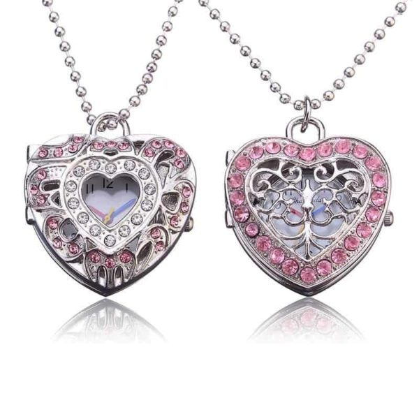 New Pink Heart Shape Pendant Necklace 1