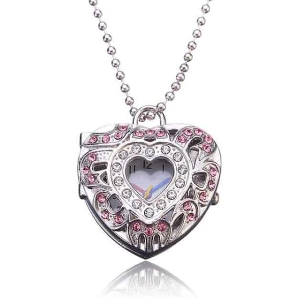 New Pink Heart Shape Pendant Necklace 7