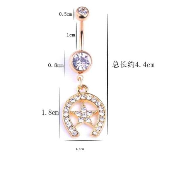 Sexy Dangle Navel Belly Button Rings 2