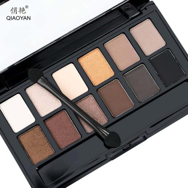Shine NUDES 12Colors Matte Natural Eyeshadow Pallete with Brush 2