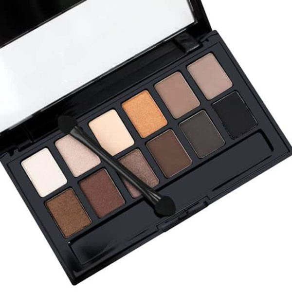 Shine NUDES 12Colors Matte Natural Eyeshadow Pallete with Brush 6