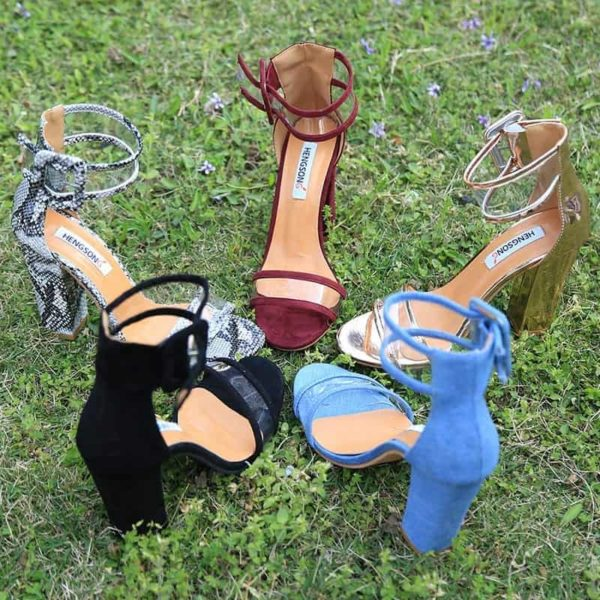 Super High Shoes Sexy Clear Transparent Strap Buckle 4