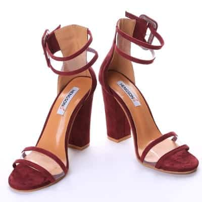 Super High Shoes Sexy Clear Transparent Strap Buckle 10