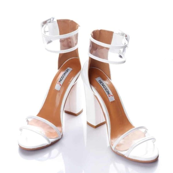 Super High Shoes Sexy Clear Transparent Strap Buckle 5