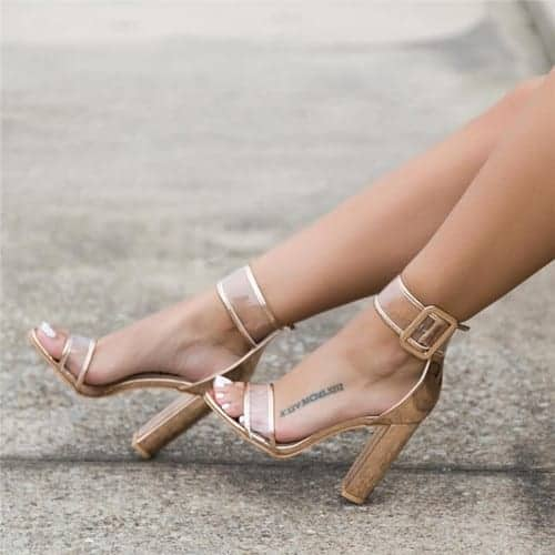 Super High Shoes Sexy Clear Transparent Strap Buckle 11
