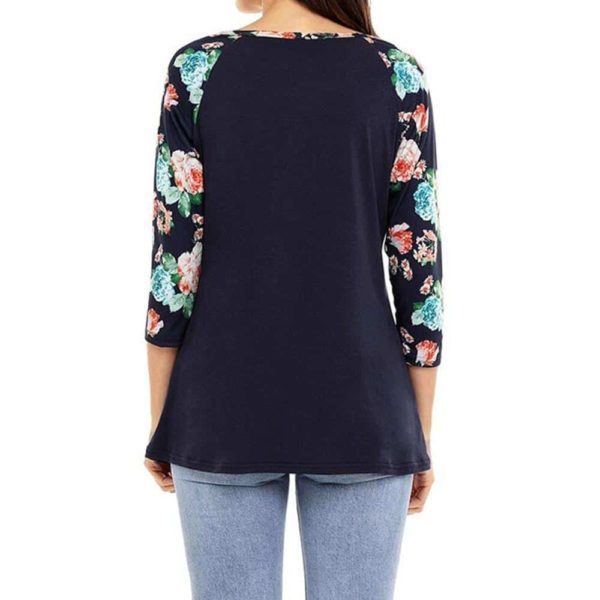 Long Sleeve Floral Flower T-Shirt 3