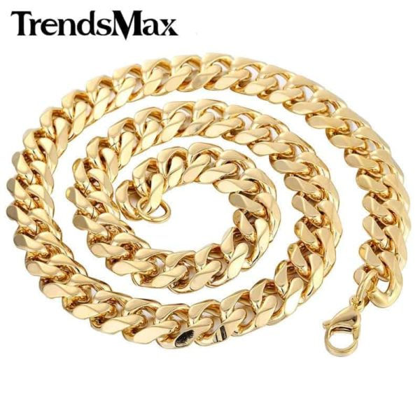 Trendsmax Gold Color Stainless Steel Necklace 2
