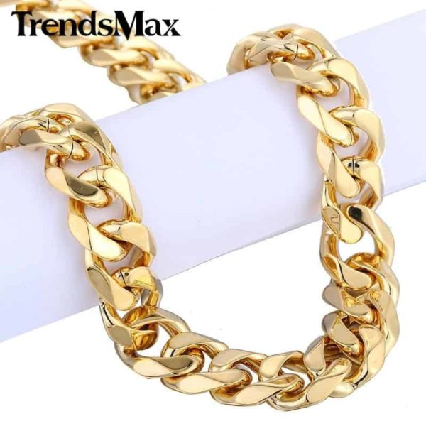 Trendsmax Gold Color Stainless Steel Necklace 3