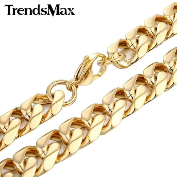 Trendsmax Gold Color Stainless Steel Necklace 1