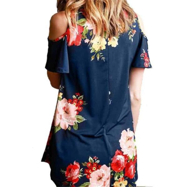 Floral Cold Off The Shoulder Blouse Casual 3