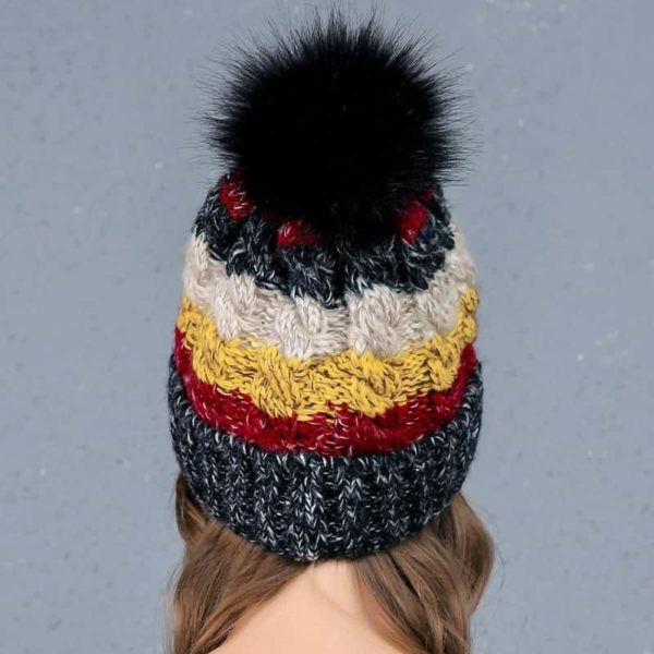 Straight Knited Beanies Cap Hooded 2