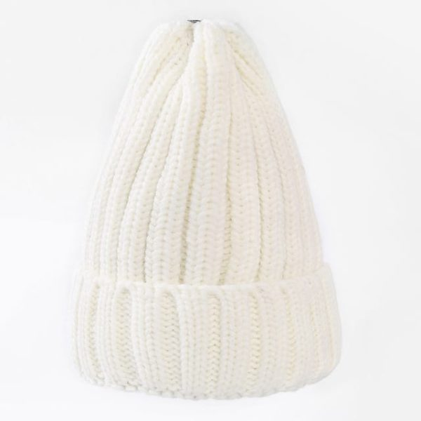 Straight Knited Beanies Cap Hooded 6
