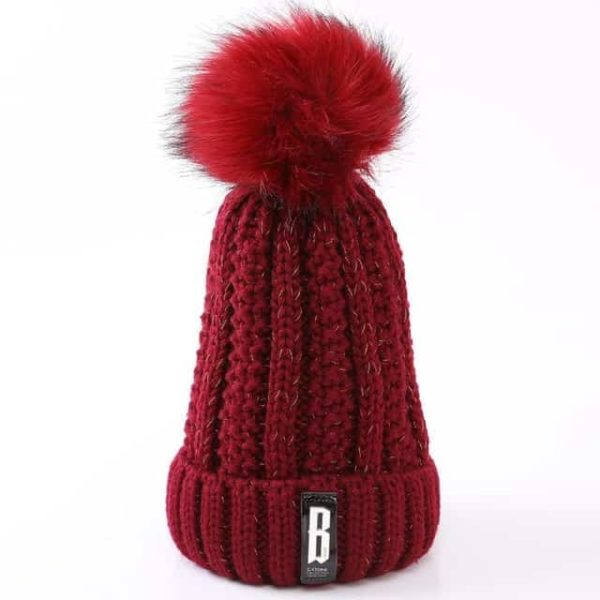 Straight Knited Beanies Cap Hooded 15