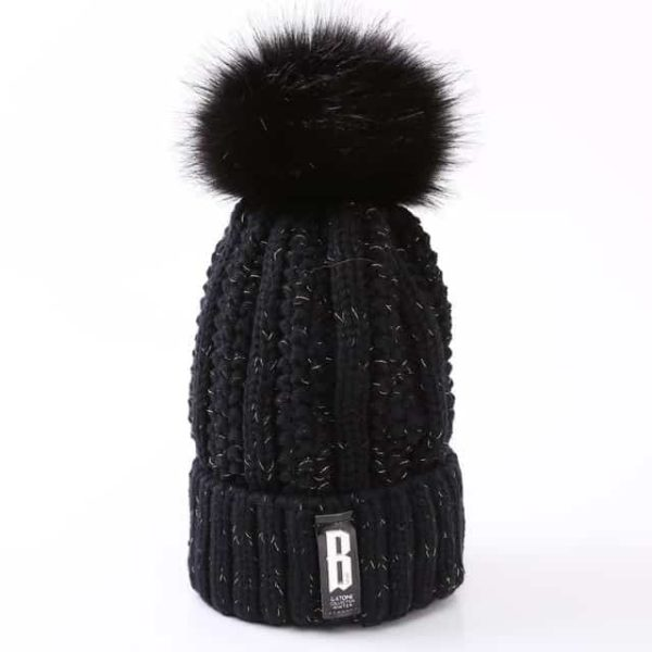 Straight Knited Beanies Cap Hooded 16