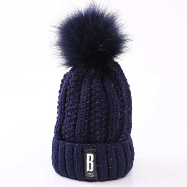 Straight Knited Beanies Cap Hooded 17