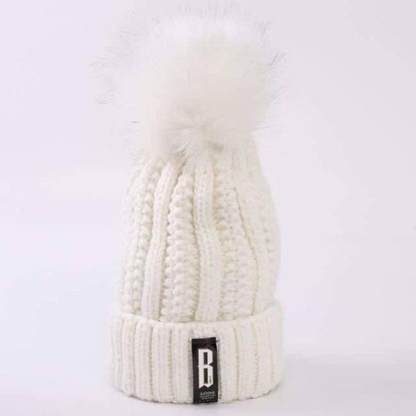 Straight Knited Beanies Cap Hooded 18