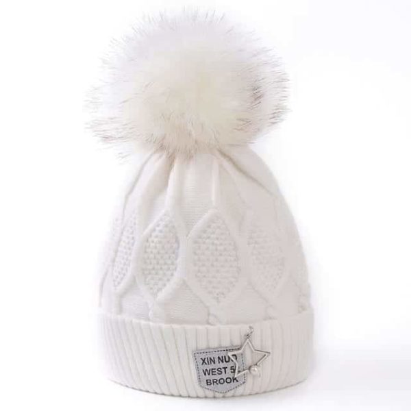 Straight Knited Beanies Cap Hooded 19
