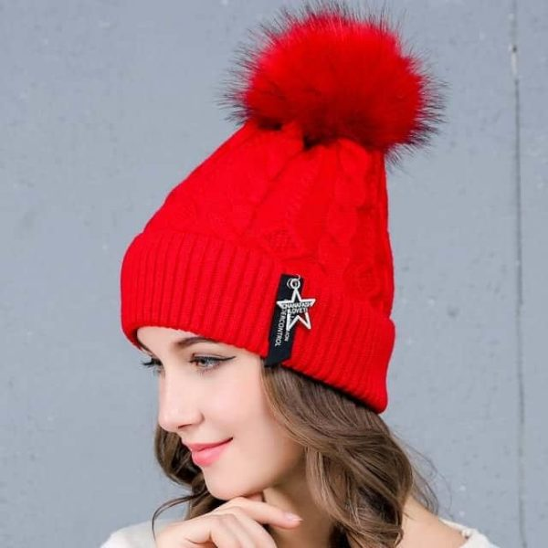 Straight Knited Beanies Cap Hooded 20