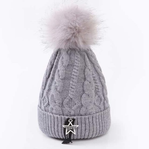 Straight Knited Beanies Cap Hooded 21
