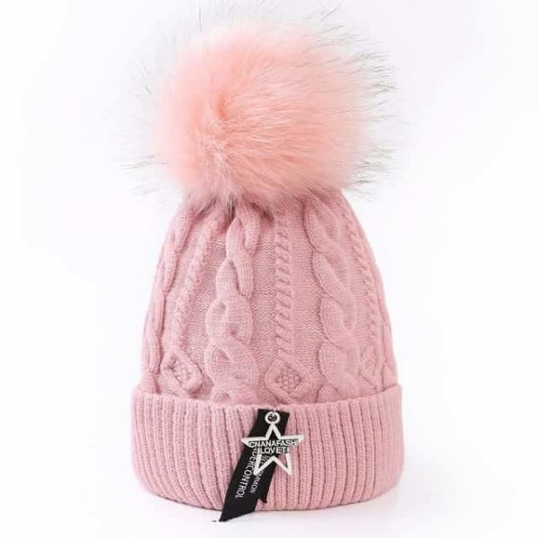 Straight Knited Beanies Cap Hooded 22