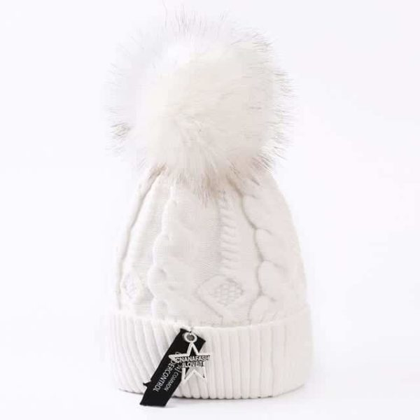 Straight Knited Beanies Cap Hooded 23
