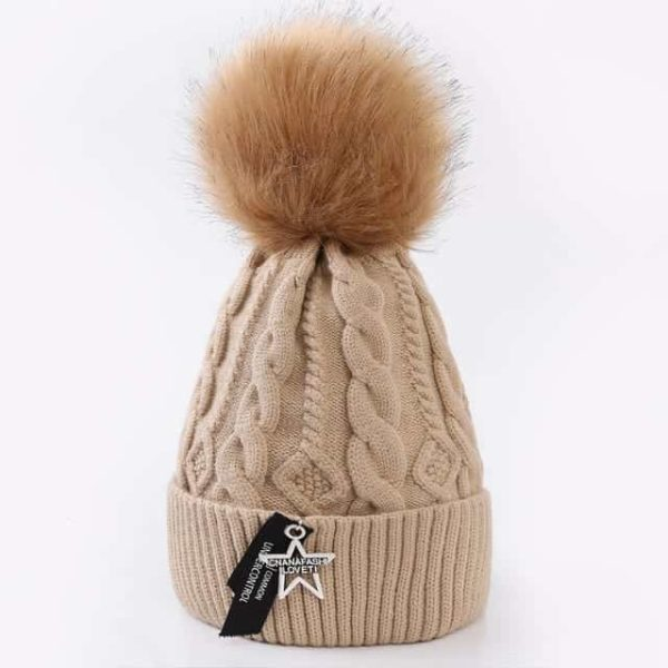 Straight Knited Beanies Cap Hooded 24