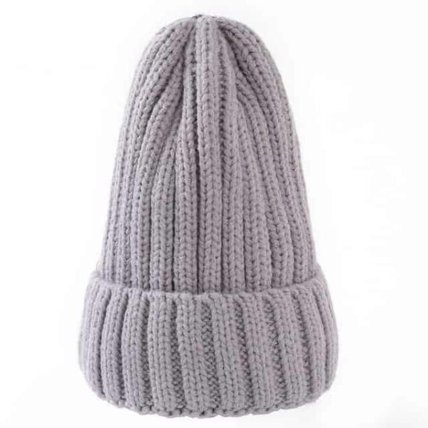 Straight Knited Beanies Cap Hooded 7