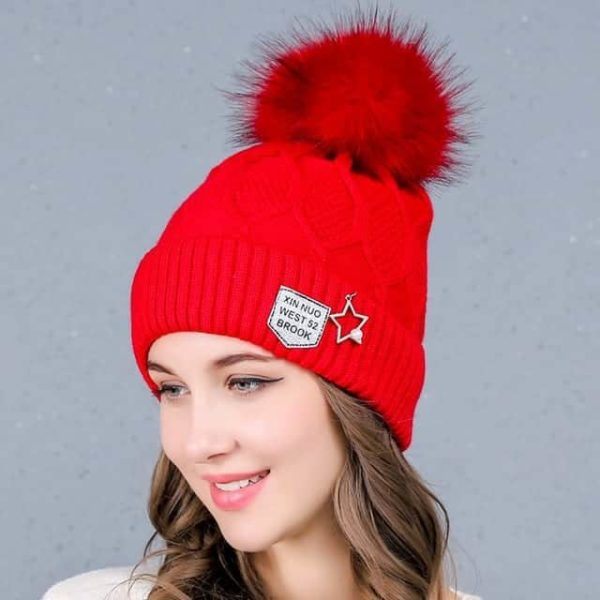 Straight Knited Beanies Cap Hooded 26