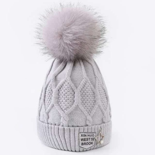 Straight Knited Beanies Cap Hooded 28