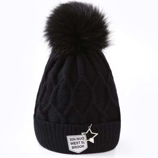 Straight Knited Beanies Cap Hooded 4