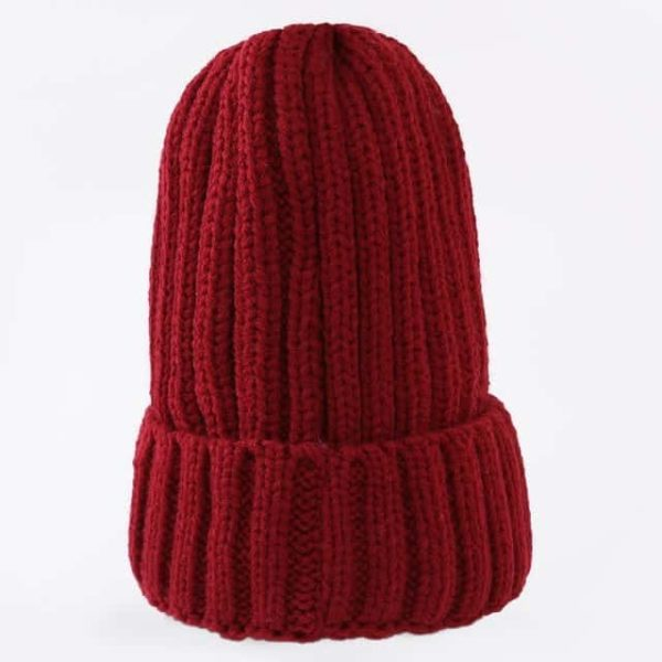 Straight Knited Beanies Cap Hooded 8