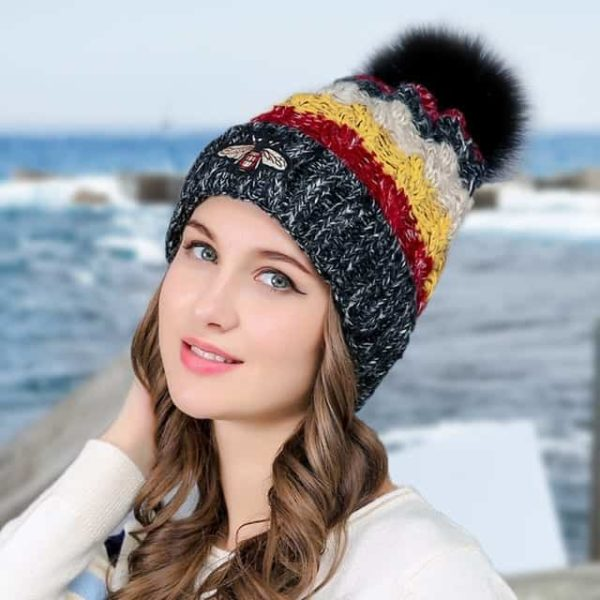 Straight Knited Beanies Cap Hooded 9