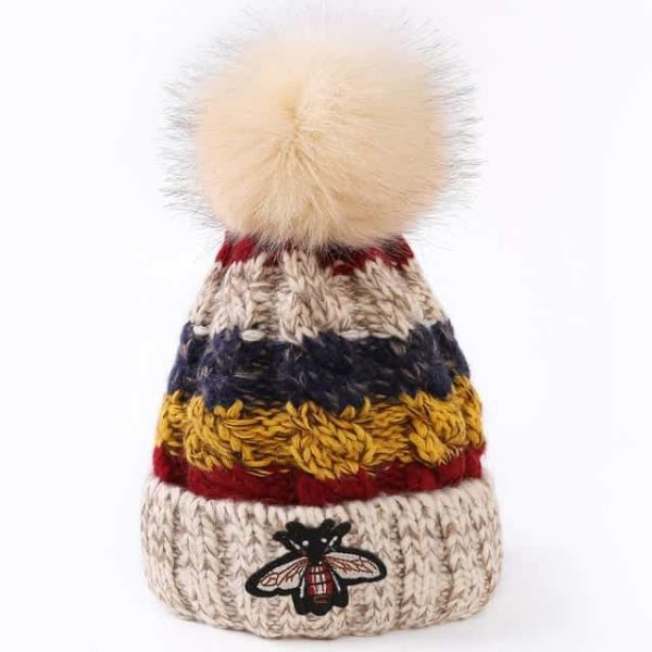 Straight Knited Beanies Cap Hooded 10