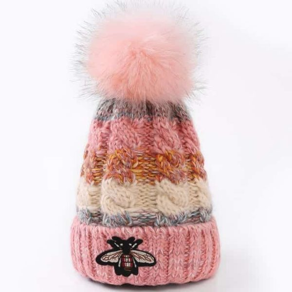 Straight Knited Beanies Cap Hooded 11