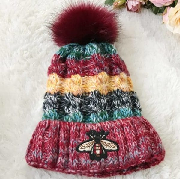 Straight Knited Beanies Cap Hooded 13
