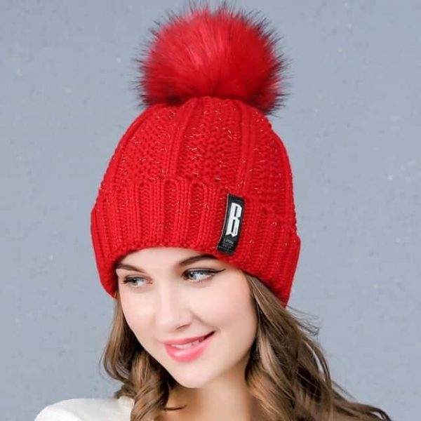 Straight Knited Beanies Cap Hooded 14