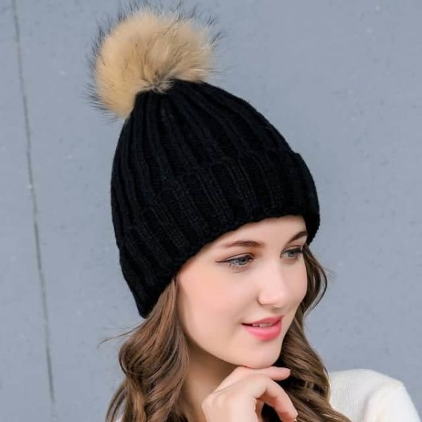 Straight Knited Beanies Cap Hooded 5