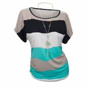 Color Block Plus Size Casual Shirt