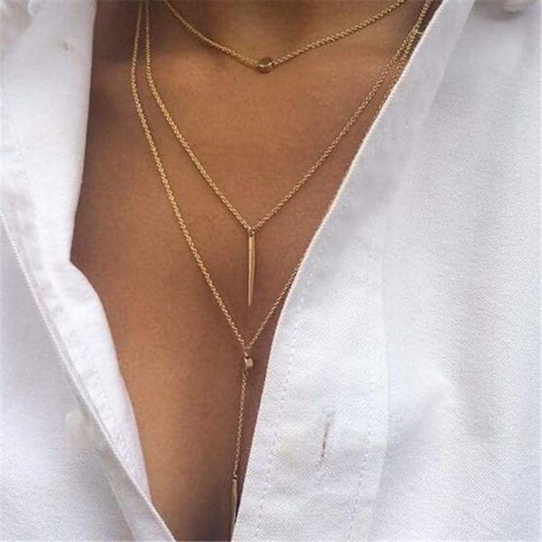 Women Layered Chain Necklaces & Pendants Jewelry 2